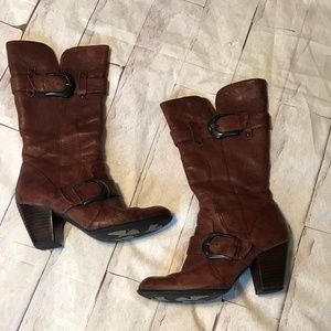 BØRN Crown | 8.5 | Leather Heeled Buckle Boots